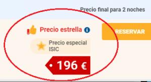 Precio especial ISIC - Logitravel