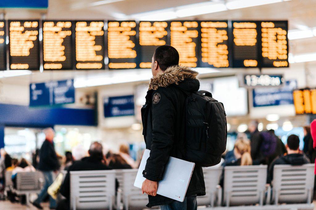 Viajar por el aeropuerto