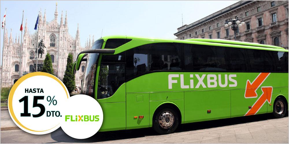 Flix Bus descuento 10 y 15% ISIC