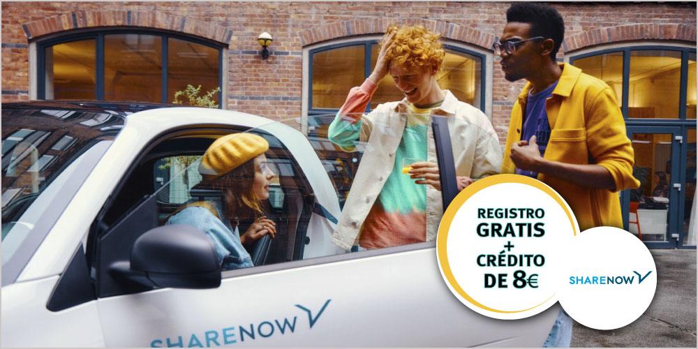 Descuento Share Now Registro Gratis y credito ISIC