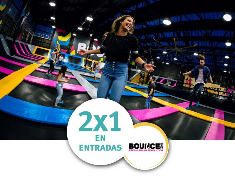 Bounce 2x1 entradas ISIC