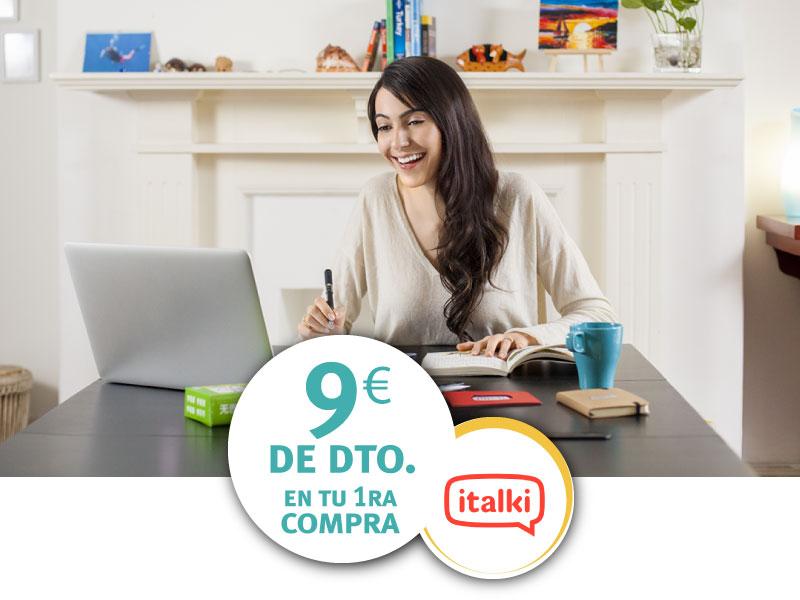 Italki 9 euros descuentos ISIC
