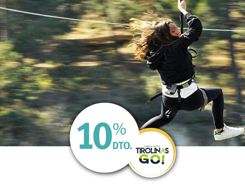 Tirolinas GO 10% De descuento ISIC
