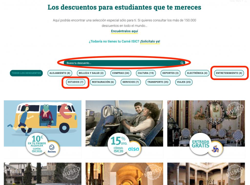 Como usar descuentos ISIC España