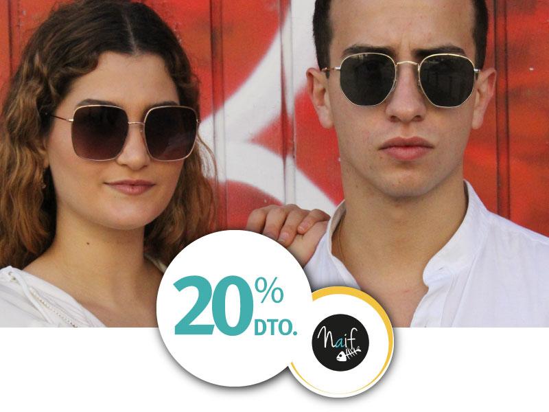 Naif Sunglasses 20 por ciento de descuento ISIC