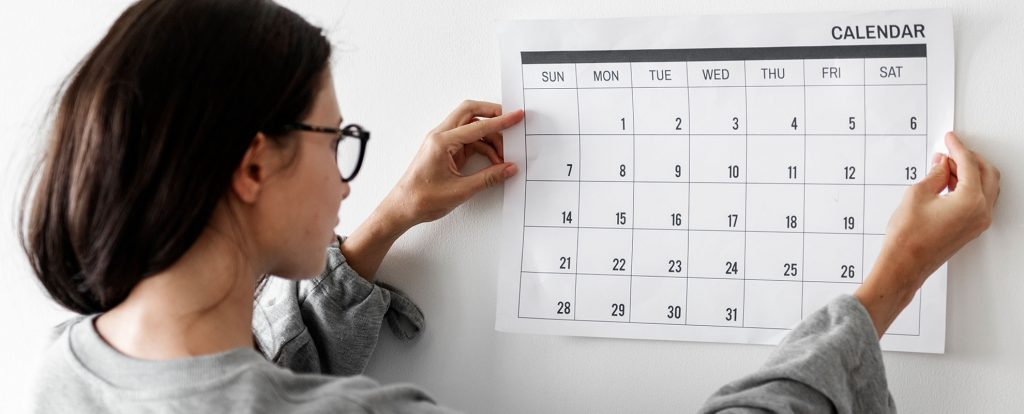 calendario fechas TFG BLOG ISIC